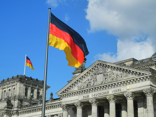 Beflaggung am Reichstag