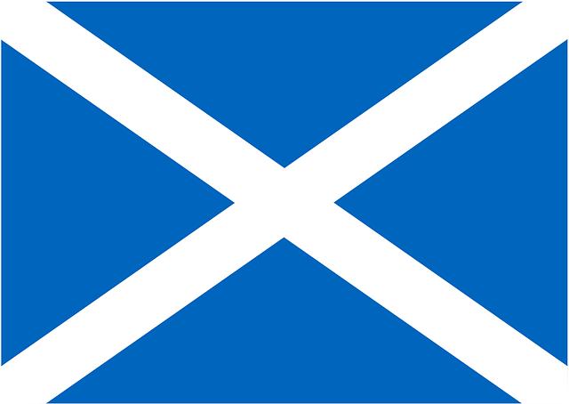 die Flagge Schottlands